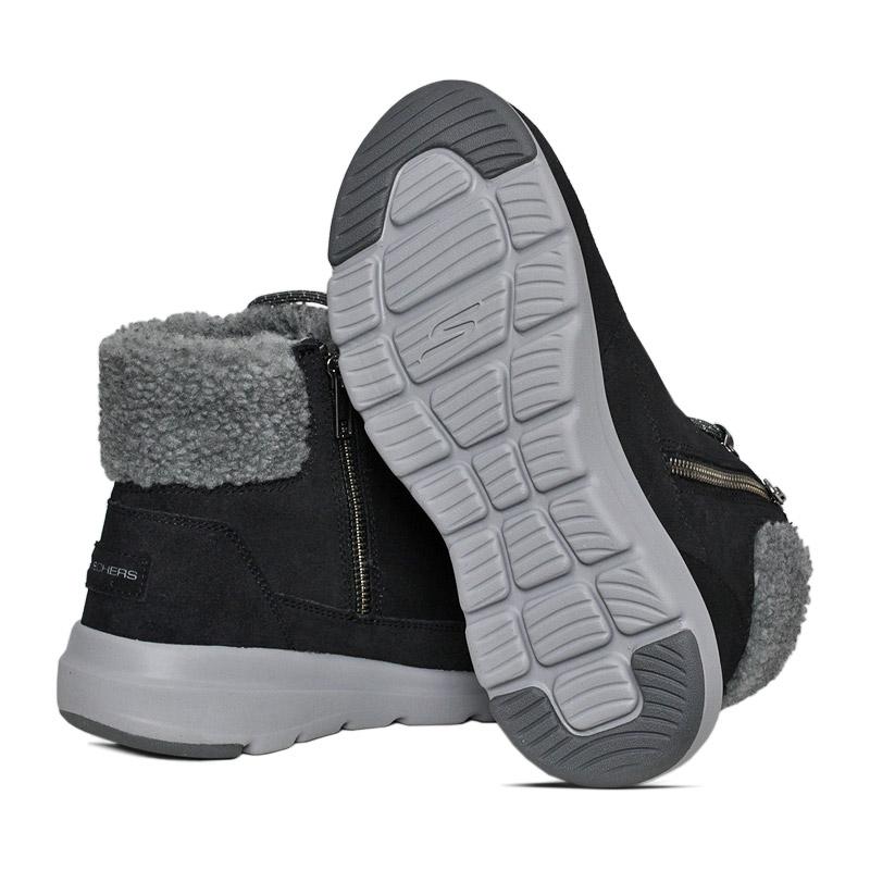 Skechers glacial ultra boot preto cinza 3