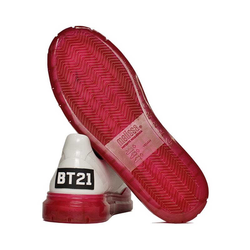 Melissa classic sneaker bt21 branco rosa 3