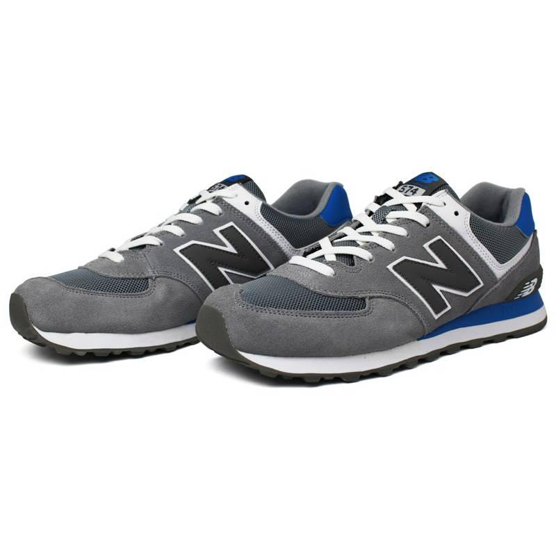 new balance azul e cinza