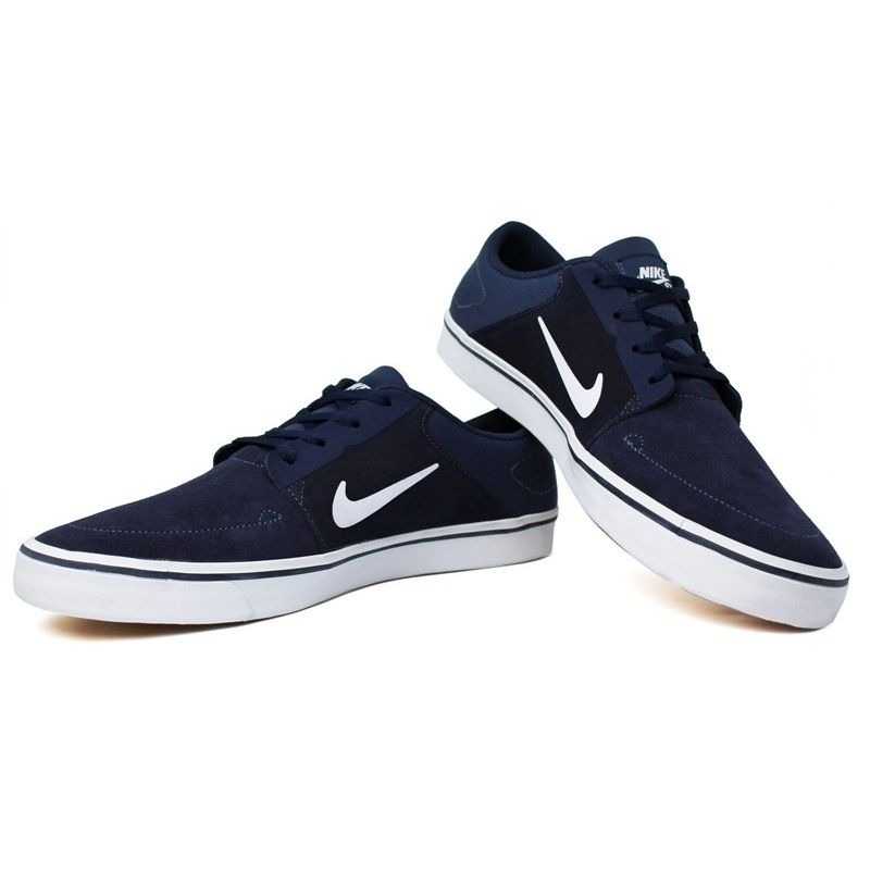 Tenis nike sb portmore navy white light brown 1