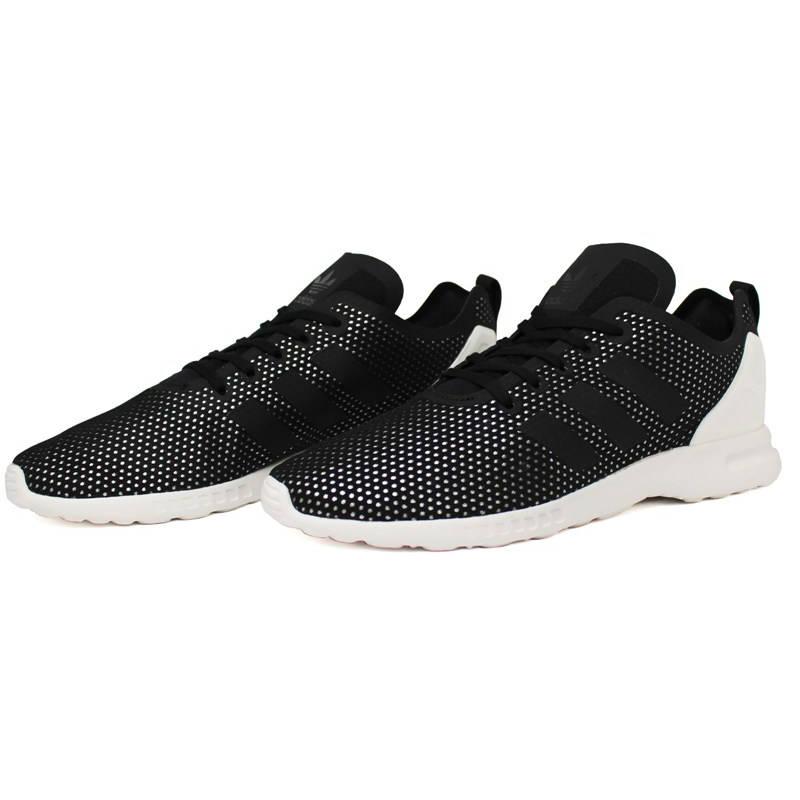 Tenis adidas zx flux preto prata branco 1