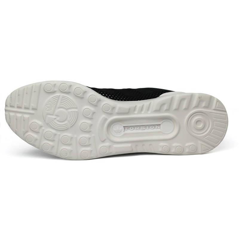 Tenis adidas zx flux preto prata branco 2