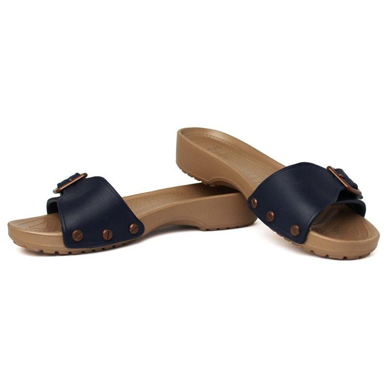 Crocs sarah sandal navy gold 1