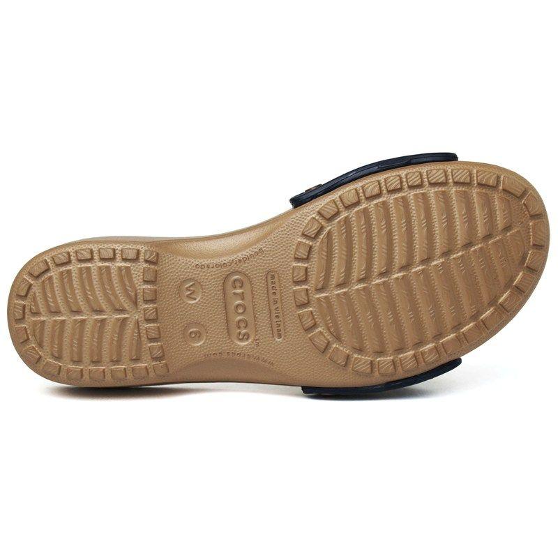 Crocs sarah sandal navy gold 3
