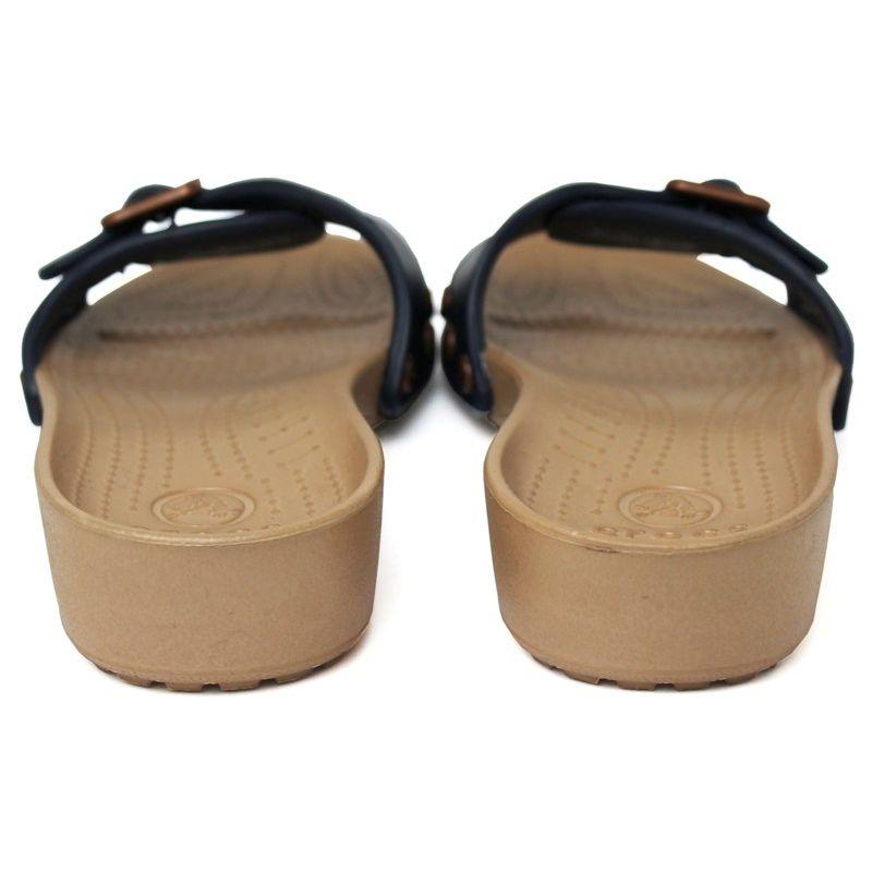 Crocs sarah sandal navy gold 4
