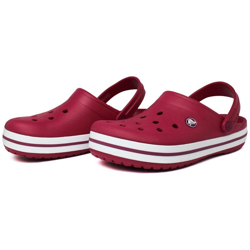Crocs crocband ii pomegranate white 2