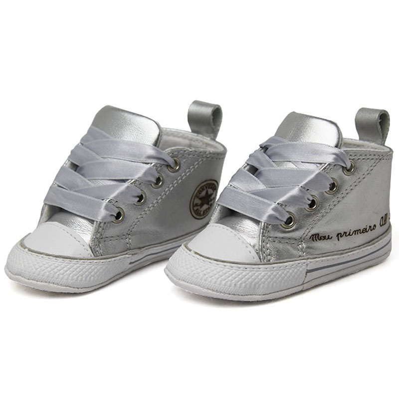 a85302a82d2 Tenis my first star metallic leather prata 2