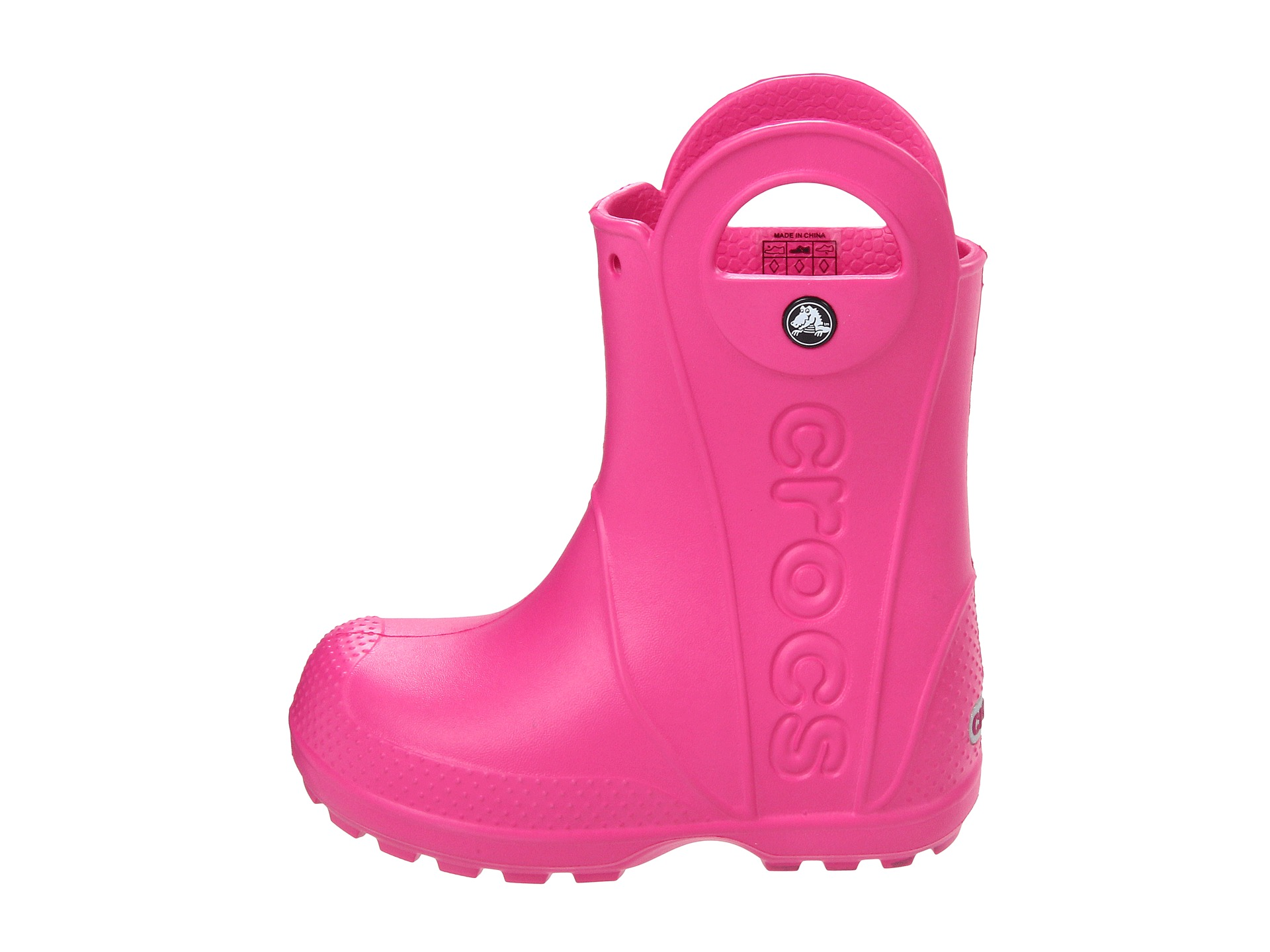 12803 crocs rain boot kids fucsia 1