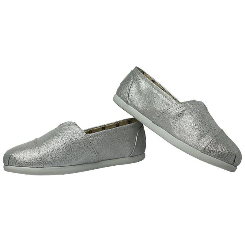 Alpargata perky kids silver 1
