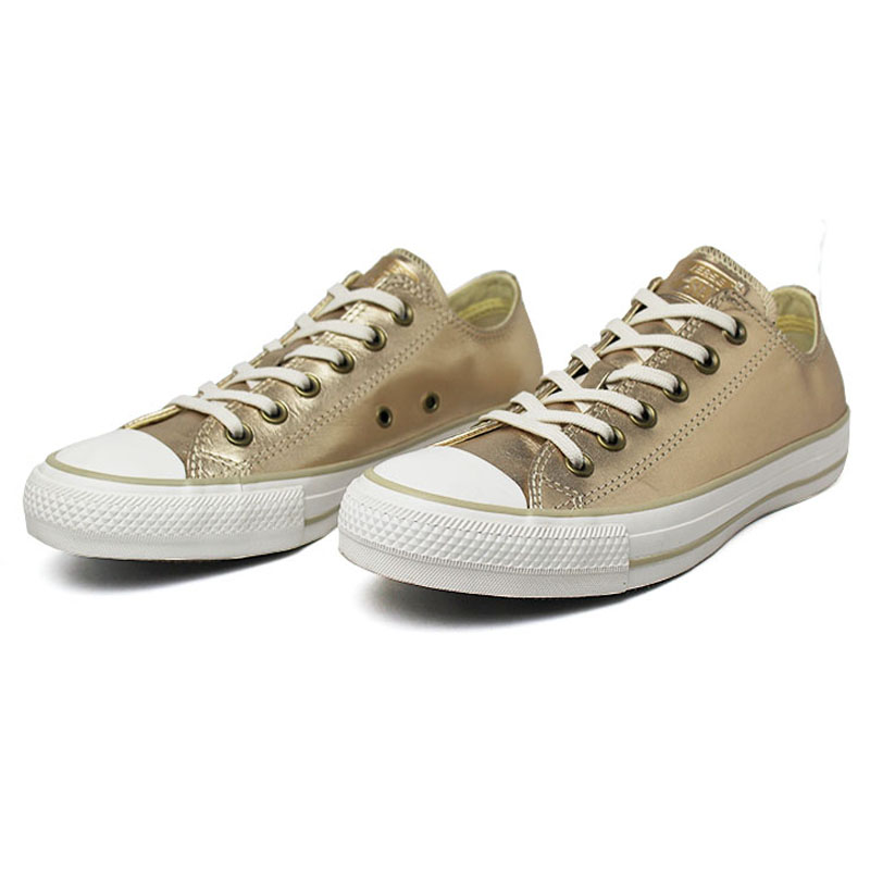 All star metallic leather ox ouro 1