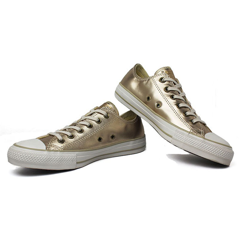 All star metallic leather ox ouro 2