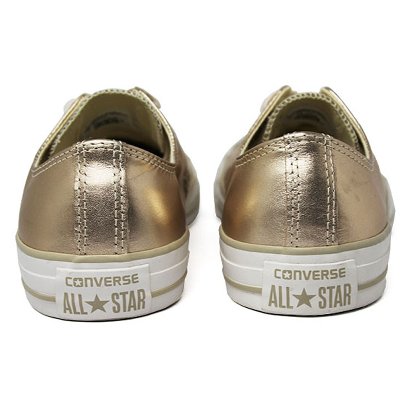 All star metallic leather ox ouro 4