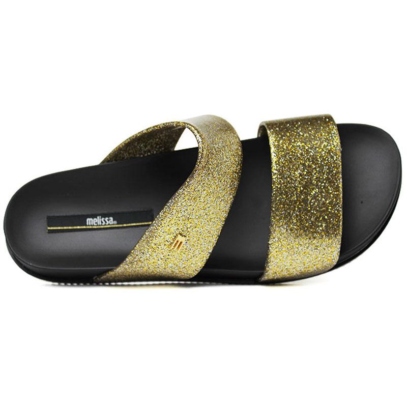 Melissa cosmic preto ouro glitter 3