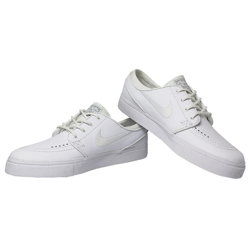 Tenis nike sb stefan janoski leather white white 1