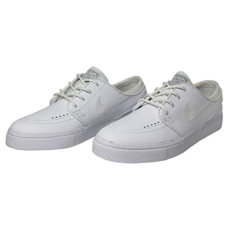 Tenis nike sb stefan janoski leather white white 2