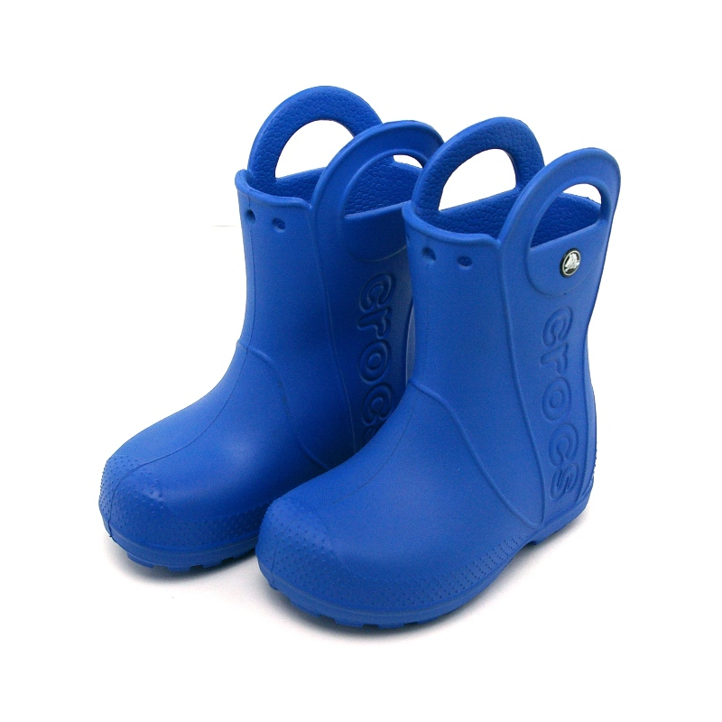 12803 crocs rain boot kids sea blue 1