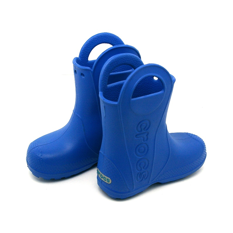 12803 crocs rain boot kids sea blue 4