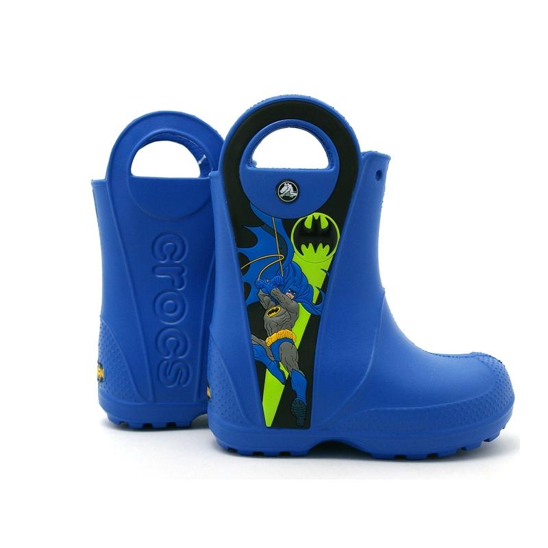 12803 crocs rain boot kids batman 1