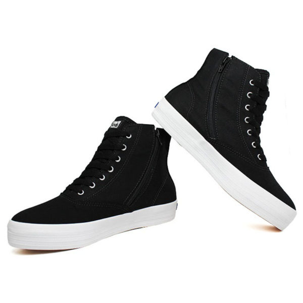 Tenis keds triple hi zip canvas preto 2