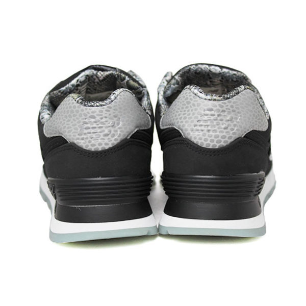 New balance 574 feminino preto cinza branco 3