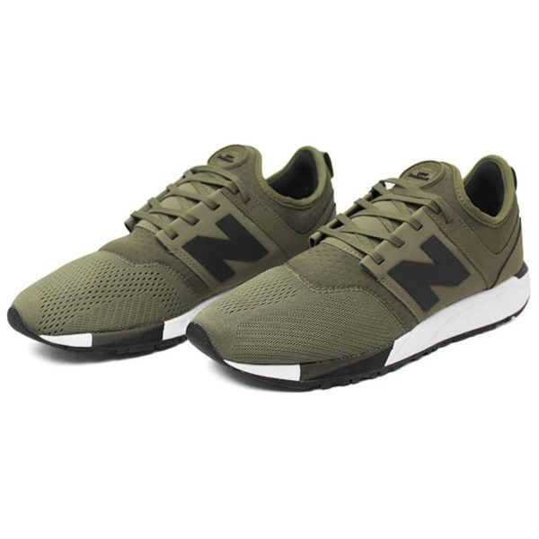 New balance 247 masculino olive verde cinza bco 2