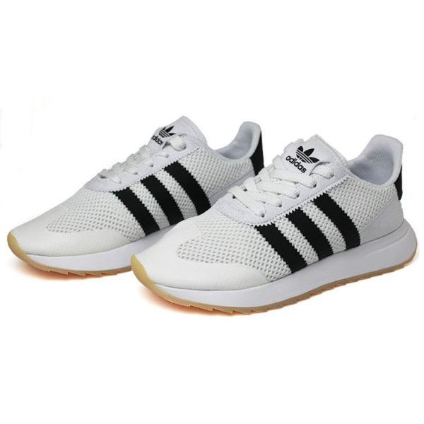 Tenis adidas flashback white black white 1