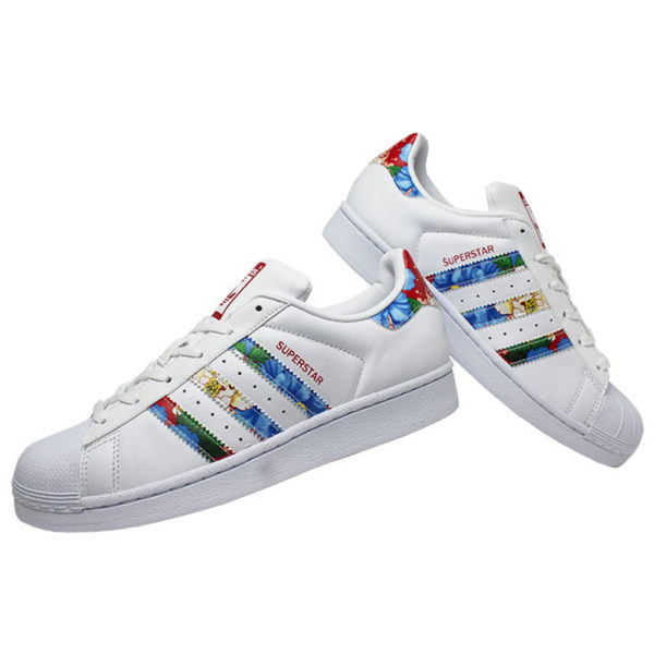 a4e8882d9aa Tenis adidas superstar w farm floral white pow 2