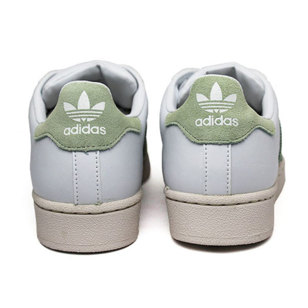 Tenis adidas superstar w white linen green ice pur 2