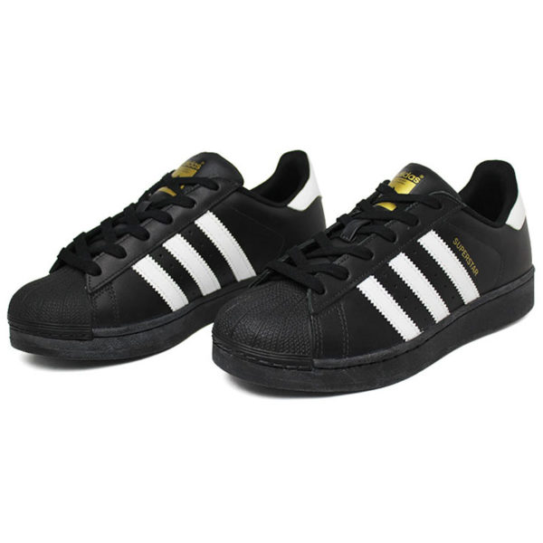 Tenis adidas superstar foundation black white blac 1