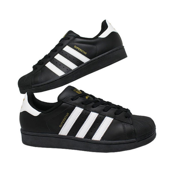 Tenis adidas superstar foundation black white blac 4
