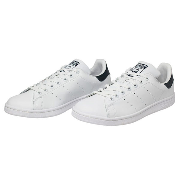 Tenis adidas stan smith white white dark blue 1