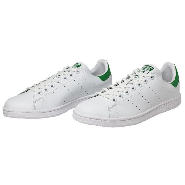 Tenis adidas stan smith white white green 1