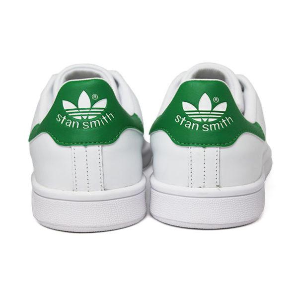 Tenis adidas stan smith white white green 3
