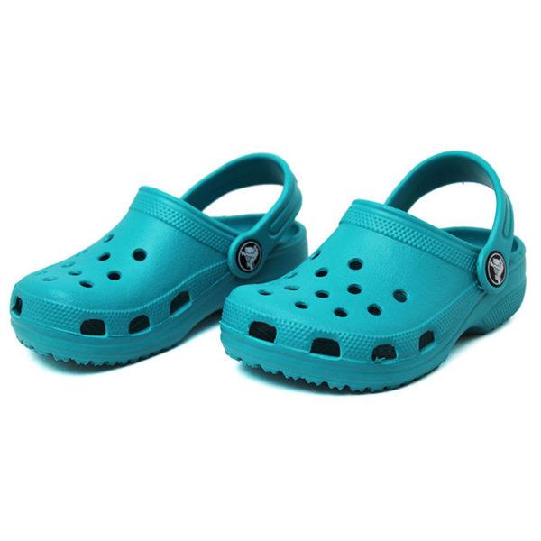 Crocs classic kids turquesa 1