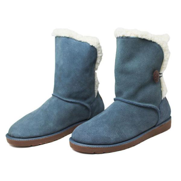 Bota convexo de pelo 1 botao azul jeans 2