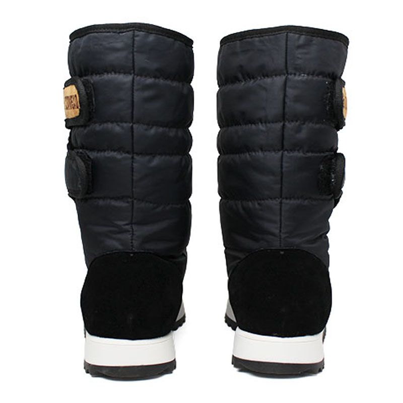 Bota convexo puff boot nylon com pele preto 3