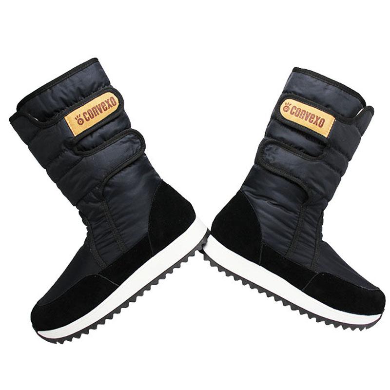 Bota convexo puff boot nylon com pele preto 4