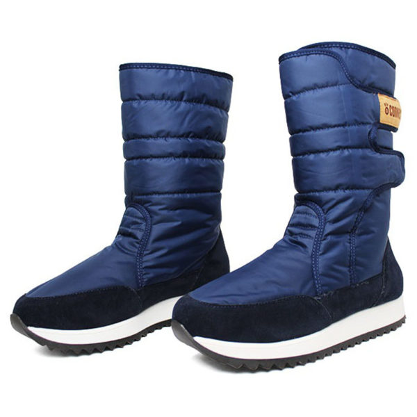 Bota convexo puff boot nylon com pele marinho 1