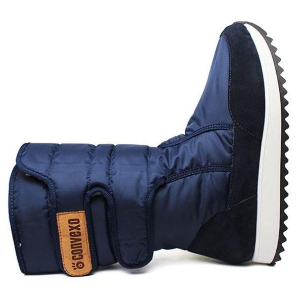 Bota convexo puff boot nylon com pele marinho 3