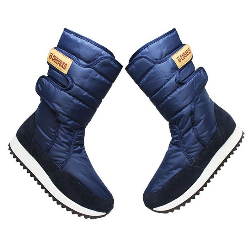 Bota convexo puff boot nylon com pele marinho 4