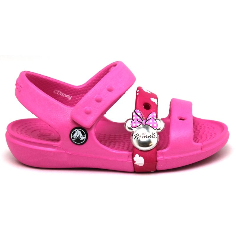 Crocs keeley sandal minnie party pink 1