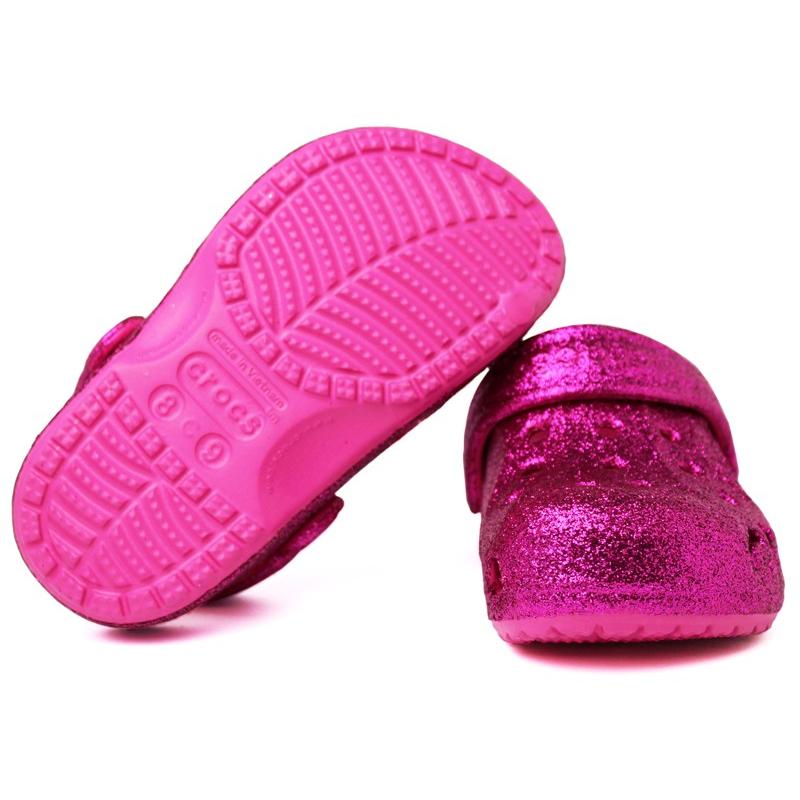 Crocs baya hi glitter vibran vibran violet fuchsia 2
