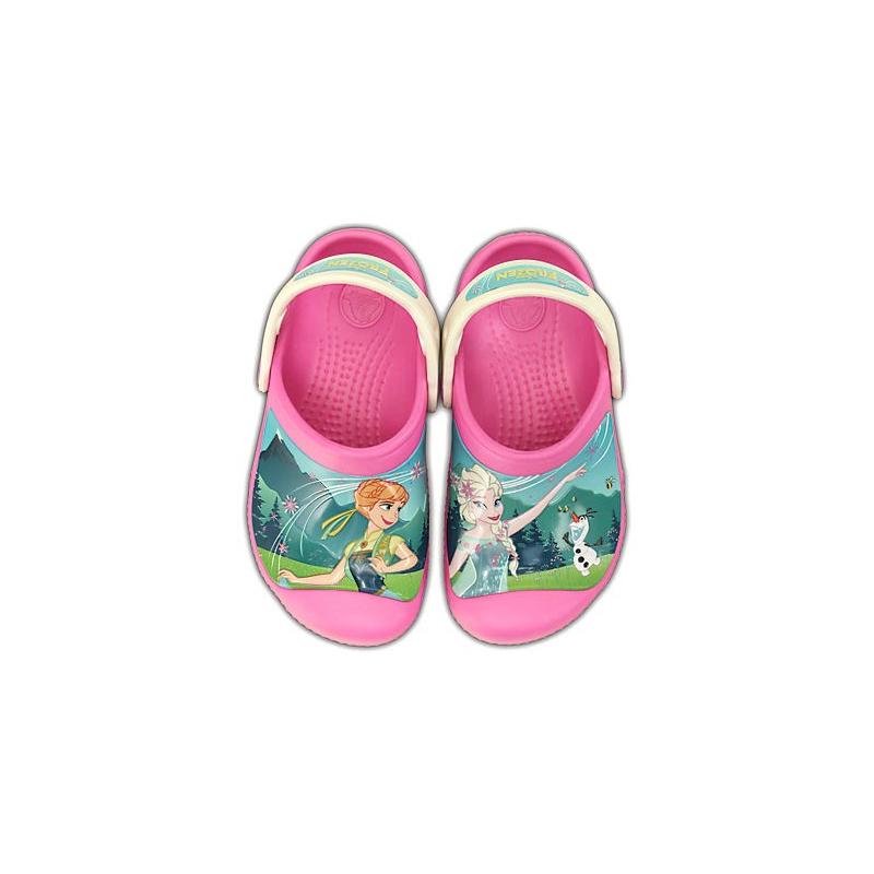 Crocs infantil frozen party pink oyster 1