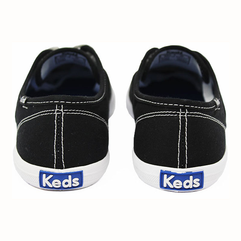 Keds woman canvas preto branco 5