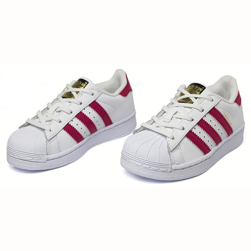 Tenis adidas superstar fondation kids wt pink 1