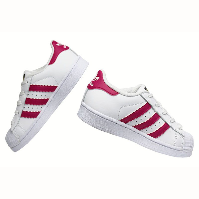 Tenis adidas superstar fondation kids wt pink 2