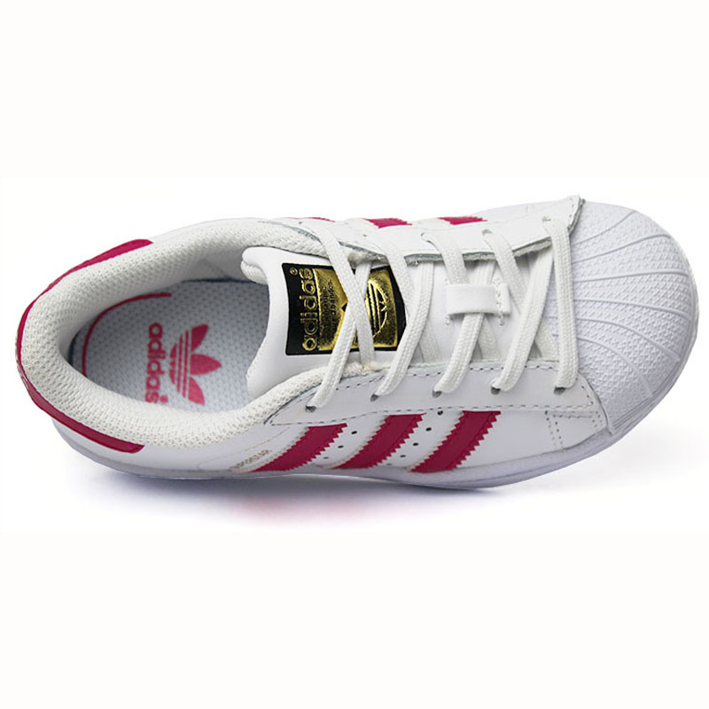 Tenis adidas superstar fondation kids wt pink 3