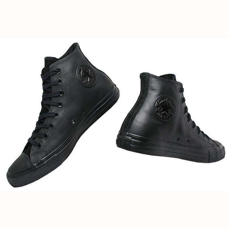 All star chuck taylor leather hi preto 2