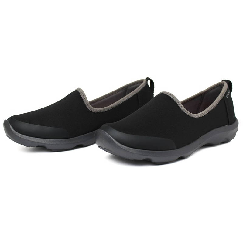 Crocs duet busy day skimmer black graphite 2