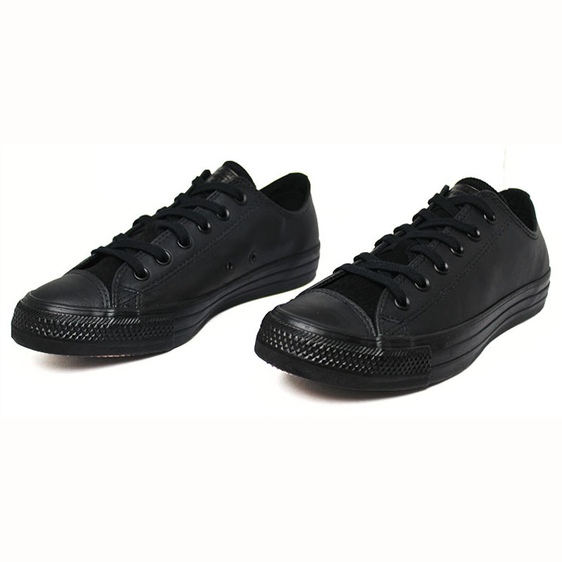 All star chuck taylor leather ox preto 1
